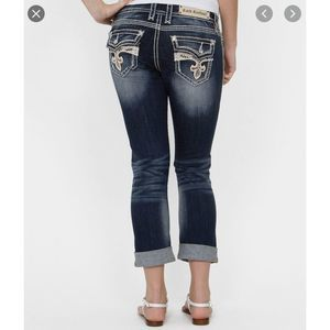 Rock Revival Jeans Avery Easy Capri Crop Jeweled